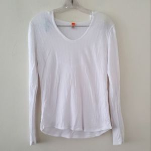 Lucy White LS Hooded Tencel Tee Sz.L